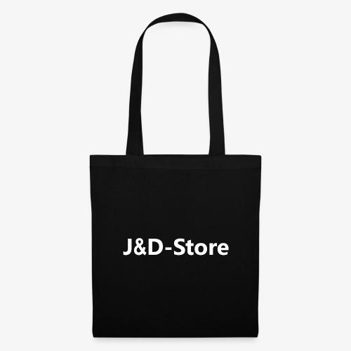 Schwarze Klamotten mit weißer J&D-Shop Schrift - Stoffbeutel
