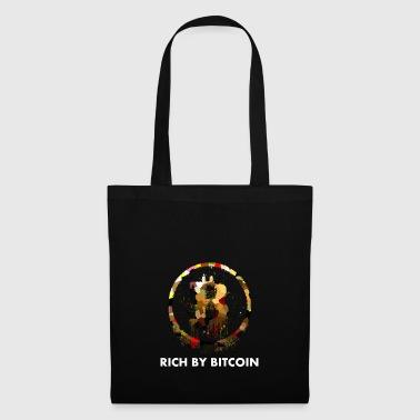 Rich by Bitcoin White Gift Idea Logo - Tote Bag
