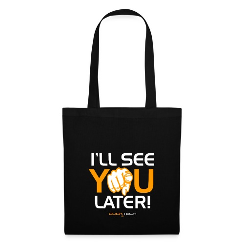 ClickTech UK See You Later Orange White - Tote Bag