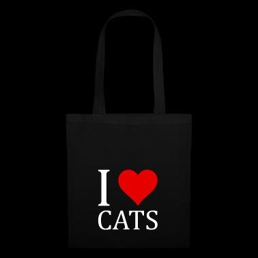 Kocham koty koszulka Projekt pomysł na prezent - Torba materiałowa