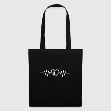 Heartbeat Meerkat T-Shirt Gift Wildlife - Tote Bag