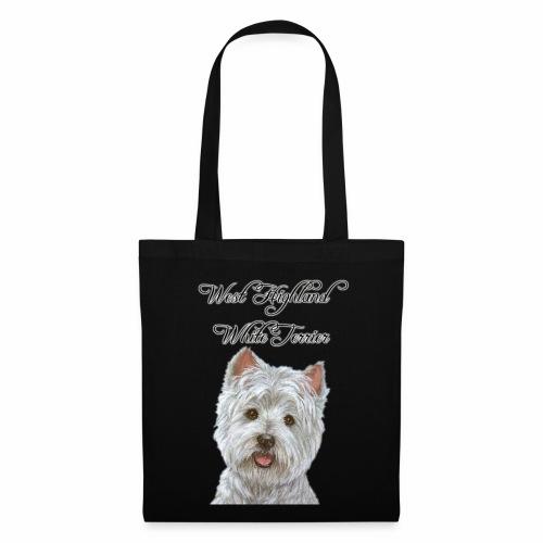 west highland white terrier design - Tote Bag