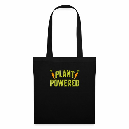 Plant Powered T-Shirt Veganer T-Shirt Geschenk - Stoffbeutel