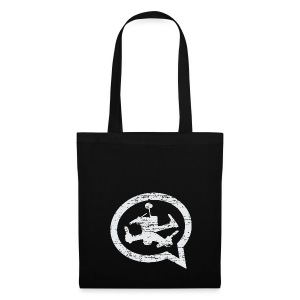 QUAD TALK DISTRESSED LIGHT - Tote Bag