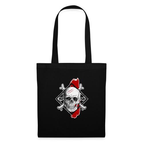 RED EVIL SCARS SKULL - Tote Bag