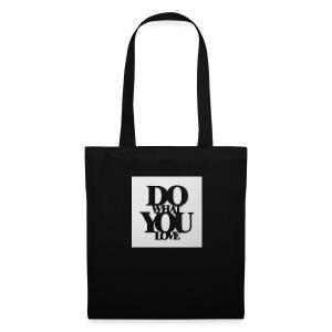 napis-na-sciane-do-what-you-love-czarny-jpg - Torba materiałowa
