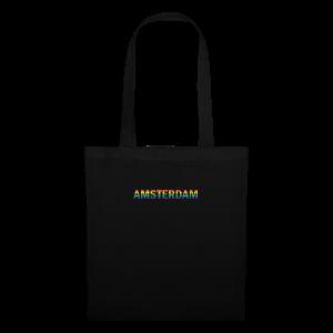 Amsterdam in gay pride rainbow kleuren - Tas van stof
