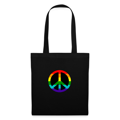 Gay pride peace symbool in regenboog kleuren - Tas van stof