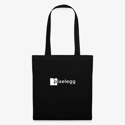 pixelegg Logo Weiss - einfärbbar!!! - Stoffbeutel