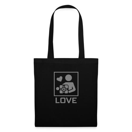 SPREADSHIRT_PORTAL_CUBE_LOVE - Borsa di stoffa