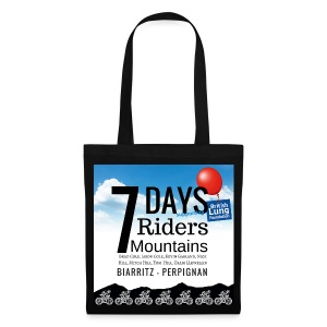 7 days 7 riders 7 mountains Square artwork - Tote Bag
