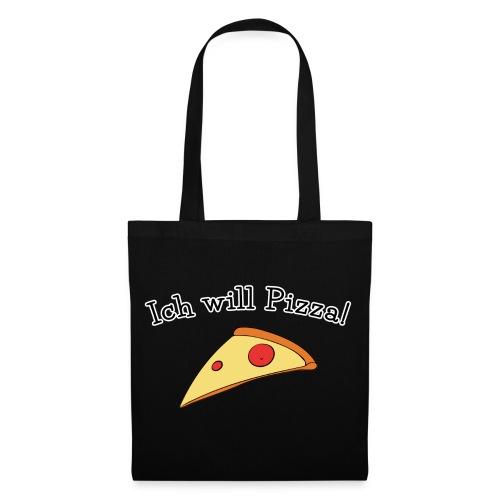 Ich will Pizza das Design zum Kartenspiel - Stoffbeutel