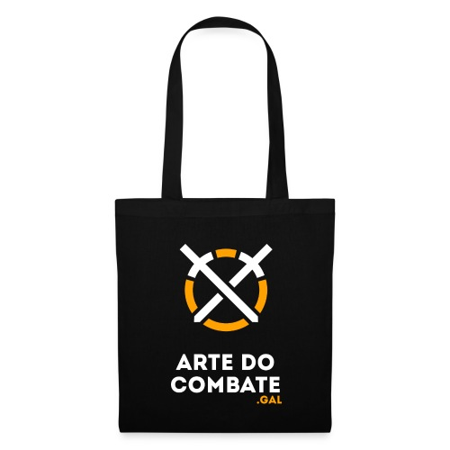 Logo «Arte do Combte» vertical sobre fundo preto - Bolsa de tela
