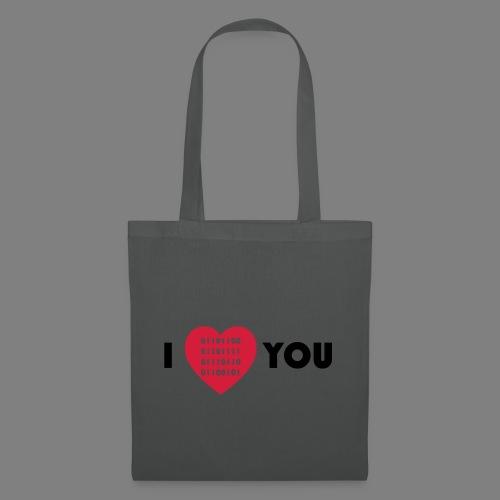 i love you - Stoffbeutel