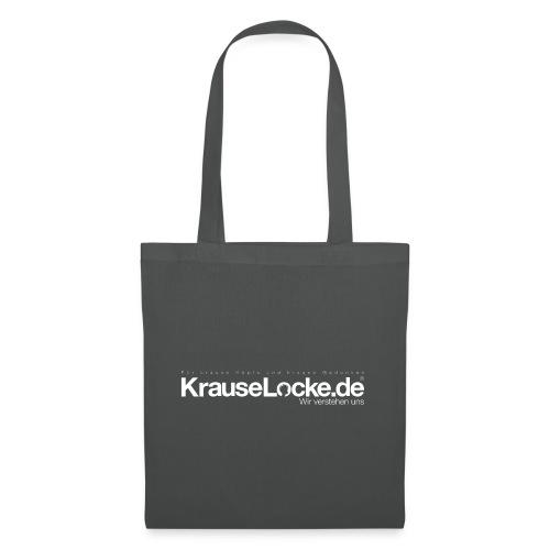 KrauseLocke Logo FINAL mit Claim weiss - Stoffbeutel
