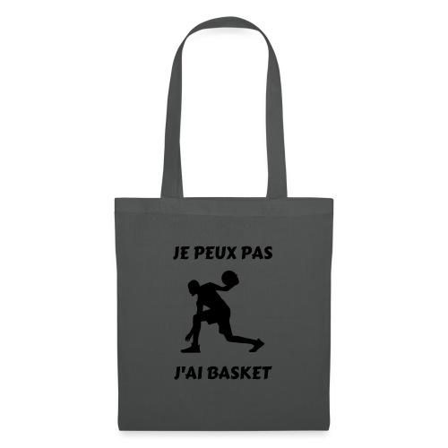 t-shirt basket je peux pas j'ai basket - Tote Bag