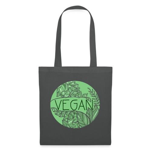 Vegan und Blättersalat - Stoffbeutel
