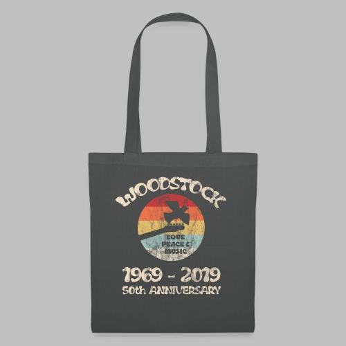 woodstock 50th anniversary love peace and music - Stoffbeutel