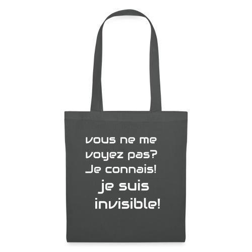 Invisibile #invisibile - Borsa di stoffa