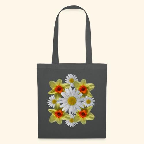 Narzissen Margeriten Osterglocken Blumen Blüten - Stoffbeutel