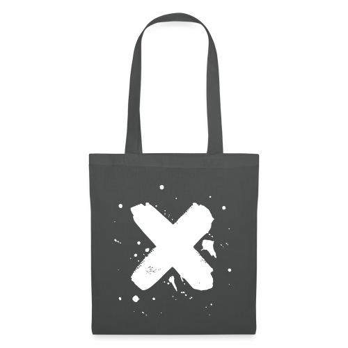 X valkoinen - Kangaskassi