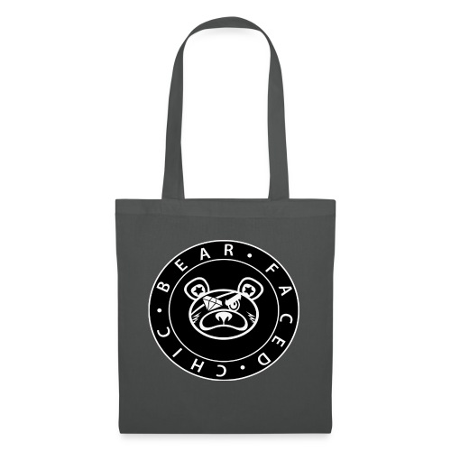 Bear Faced Chic Black and White Logo Varient - Tote Bag