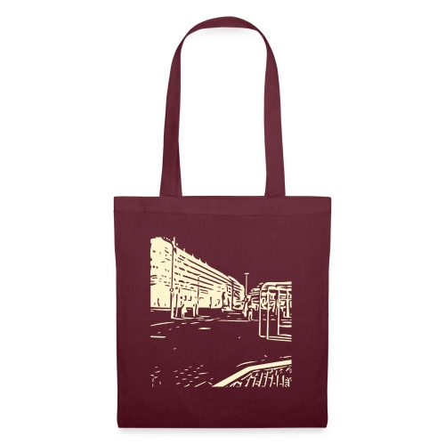 helsinki railway station pattern trasparent beige - Tote Bag