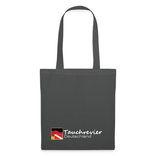 Tauchrevier Deutschland Logo classic weiß - Stoffbeutel