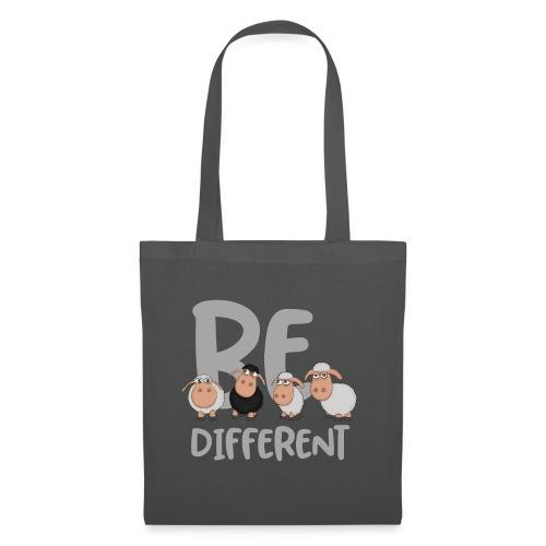 Be different Schafe: Einzigartiges schwarzes Schaf - Stoffbeutel