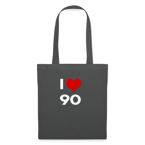 I love 90 - Borsa di stoffa