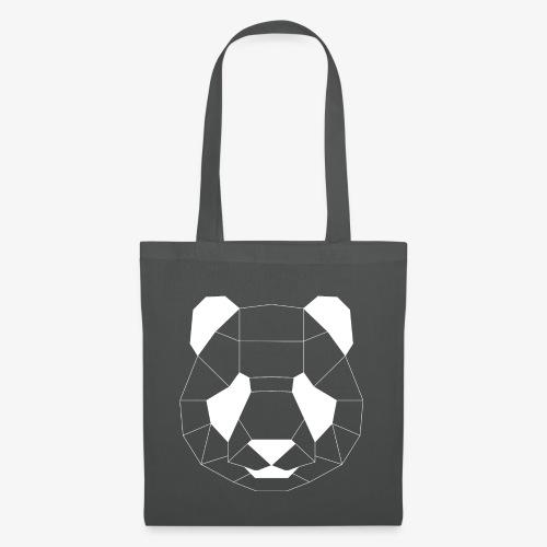Panda Geometrisch weiss - Stoffbeutel
