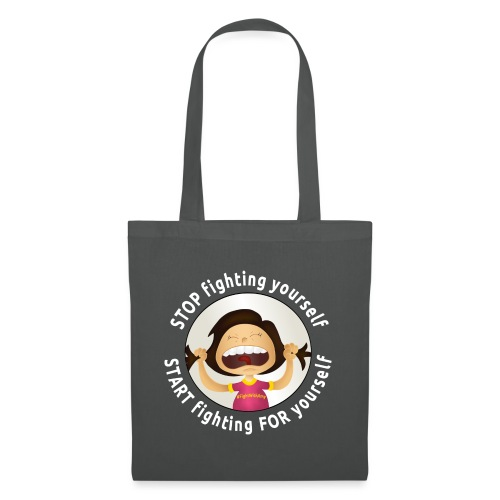 Amy's motto (white txt) - Tote Bag