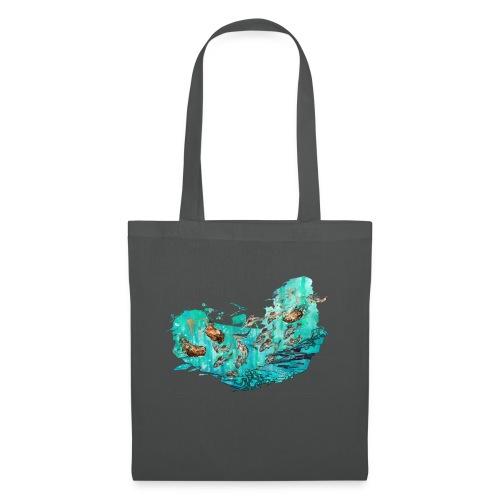 Fangtag // Bären fangen Fische (Morph-Art) - Stoffbeutel