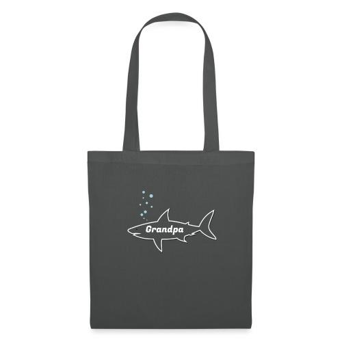 Grandpa shark - Fathers day gift - matching outfit - Stoffbeutel