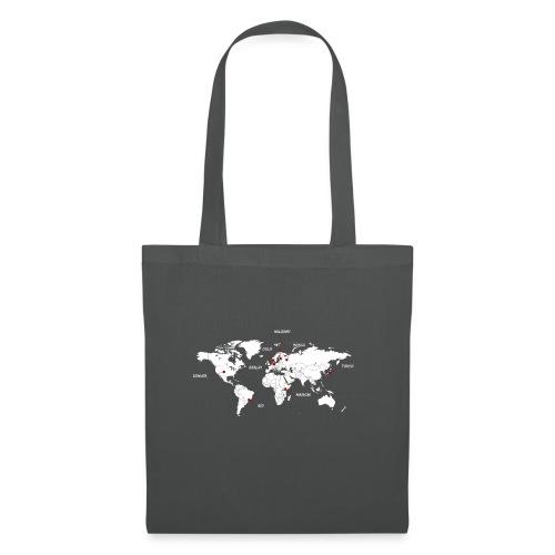 Mapa y ciudades - Bolsa de tela
