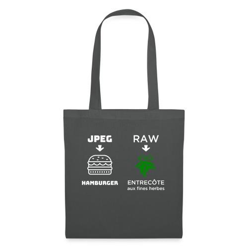 JPEG vs RAW - Bolsa de tela