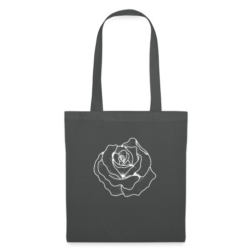 Female Exclusive Rose Dot White V-Neck T-Shirt - Tote Bag