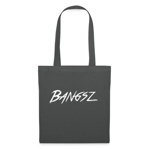 Bangsz T-shirt - White print - Tas van stof