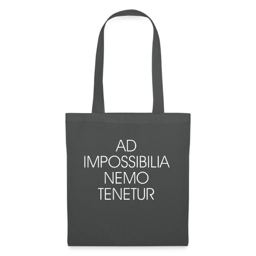 Ad Impossibilia Nemo Tenetur t-shirt avvocato - Tote Bag