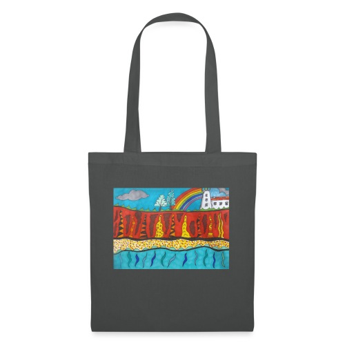 Lighthouse on the Cliff - Tote Bag