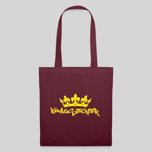 Königstochter m. Krone über der stylischen Schrift - Stoffbeutel