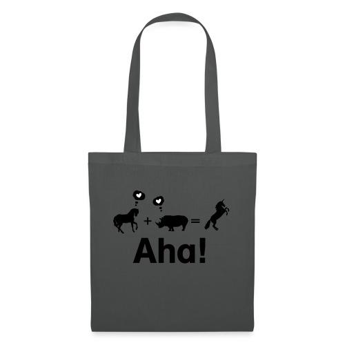 Pferd + Nashorn = Einhorn - Stoffbeutel