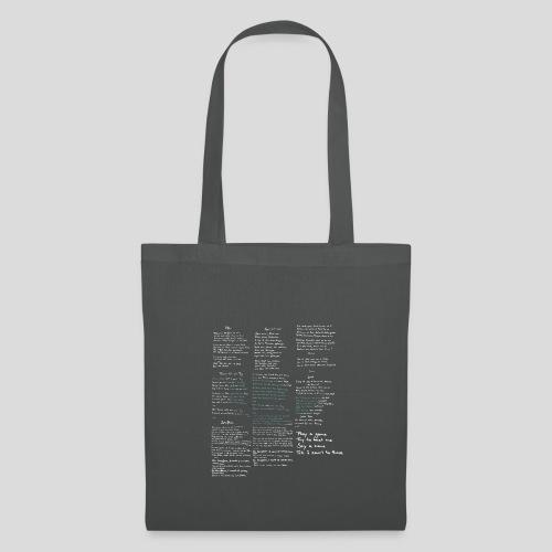 Typo-Tasche - Stoffbeutel