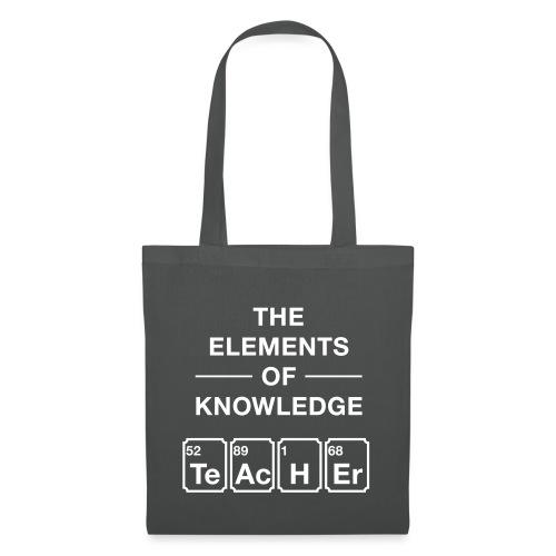 Lustig Periodensystem Lehrer Shirt Geschenk - Stoffbeutel