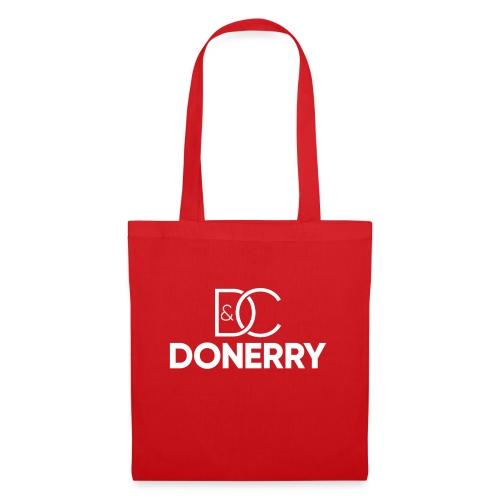 DONERRY New White Logo on Dark - Tote Bag