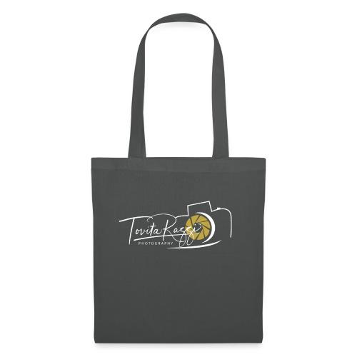 Tovita Razzi Hvit logo - Stoffveske
