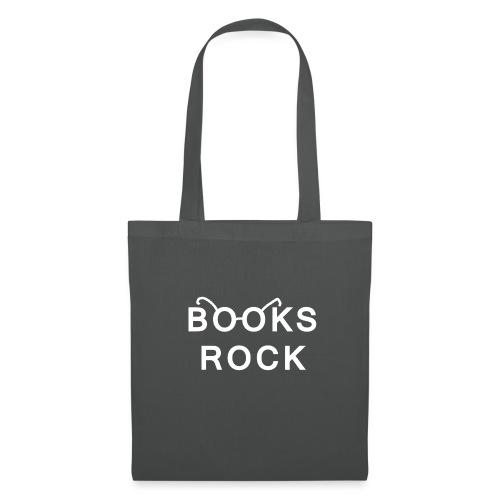 Books Rock White - Tote Bag