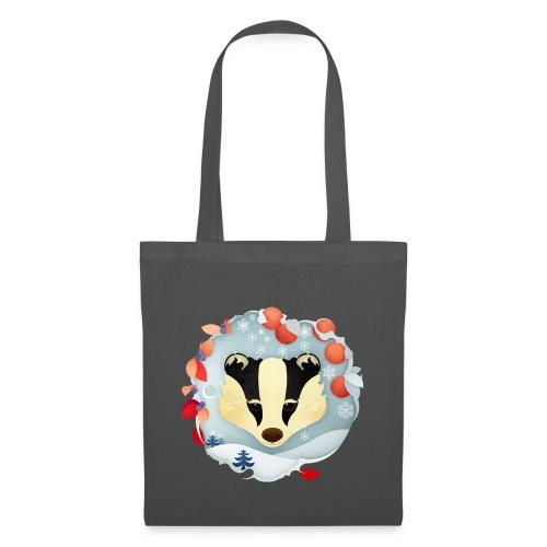 Christmas Badger - Tote Bag