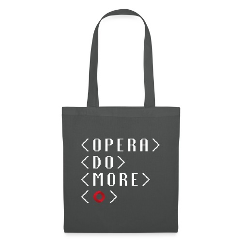 Opera-do-more-pixel-white - Tote Bag