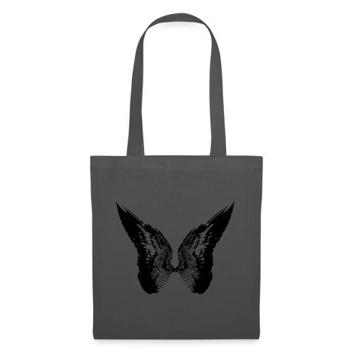 Tom Moriarty Drawn Wings Black - Tote Bag